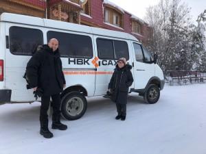 Venturini con gli operatori del canale tv HBK Caxa