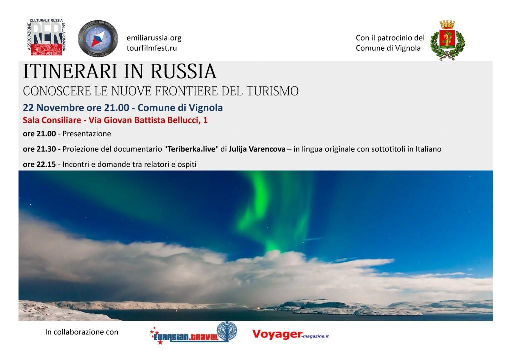 Invito 22 Novembre Comune di Vignola itinerari in Russia