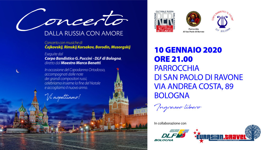 Concerto 10 gennaio bologna banda puccini russia